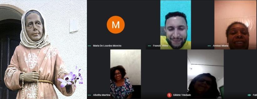 Nhá Chica y la actividad virtual de la Diócesis de Guarulos