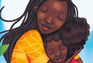 Imagen de Lydia Mba de una madre afro que abraza a su hija